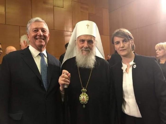 Српскиот патријарх се сликаше со идната српска премиерка