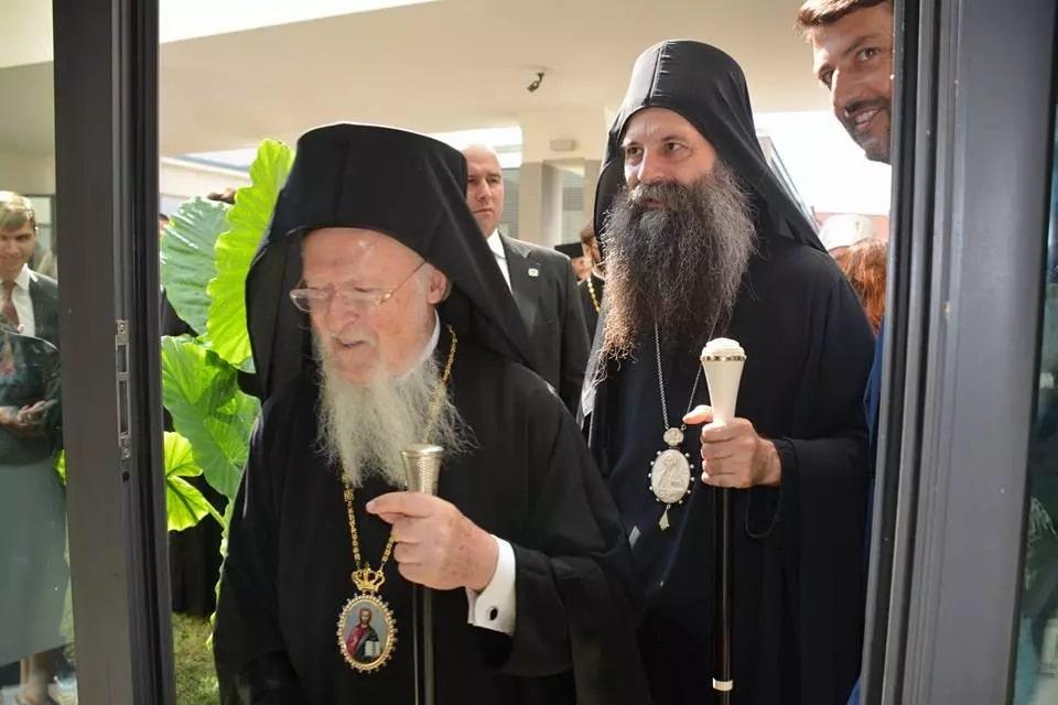 Честитка на Вселенскиот Патријарх до новоизбраниот Патријарх Српски Порфириј