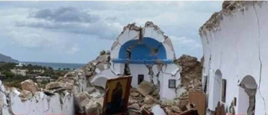 Иконата од Богородица и Исус останала недопрена – црквата Свети Никола срамнета до темел по земјотресот